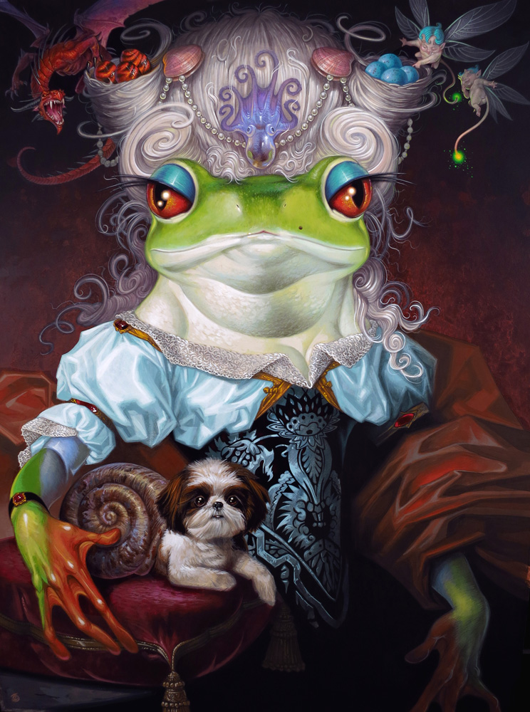 Her Royal Highness Elizardbeth Prinzill, Princess of Undersludge, (...) Duchess of Croakbridge and Heir to its Realms and Territories