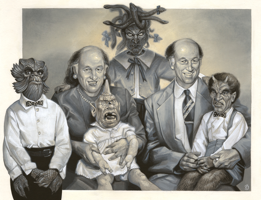 Family Portraithausen- A Ray Harryhausen Tribute