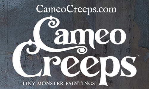 Cameo Creeps: Tiny Monster Paintings
