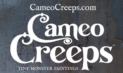 Cameo Creeps: Tiny Monster Paintings