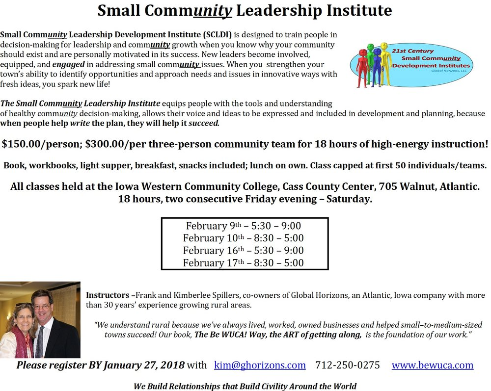 IWCC Class - Small Community Leadership Institute Flyer.jpg