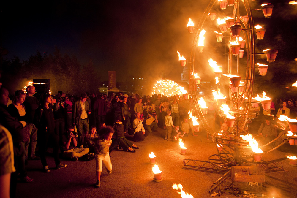 Fire Garden, Cie Carabosse. A Thames Festival Project.