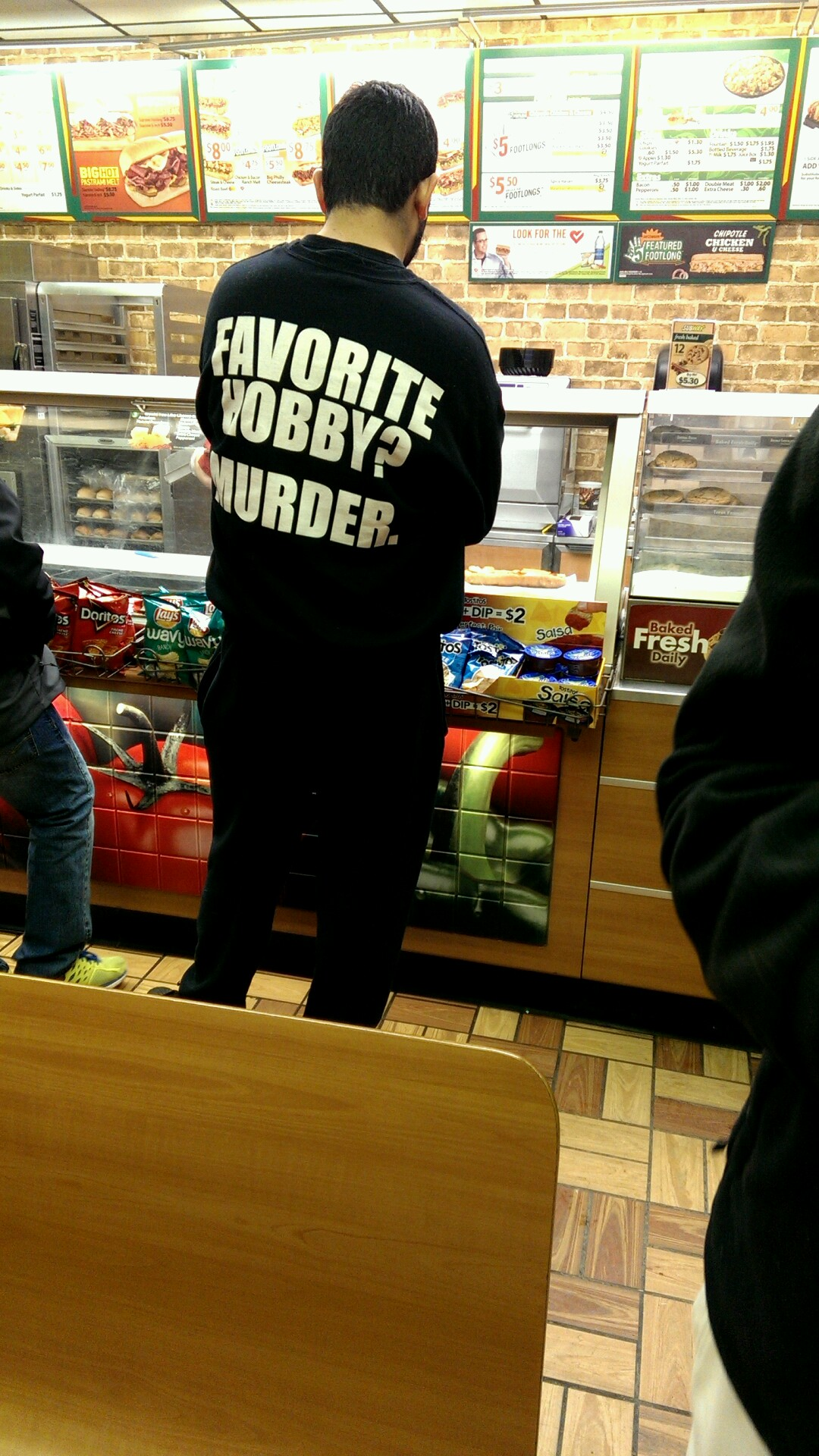 "theclearlydope: It's always free cookie day when you wear your ""murder shirt."" [via]"
