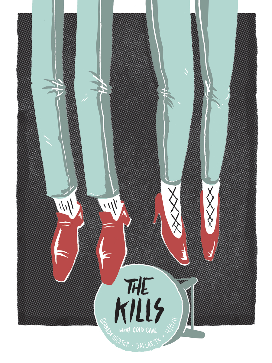 Our The Kills poster from last night's show is up in our e-warehouse. Let's you and us trade some paper rectangles.