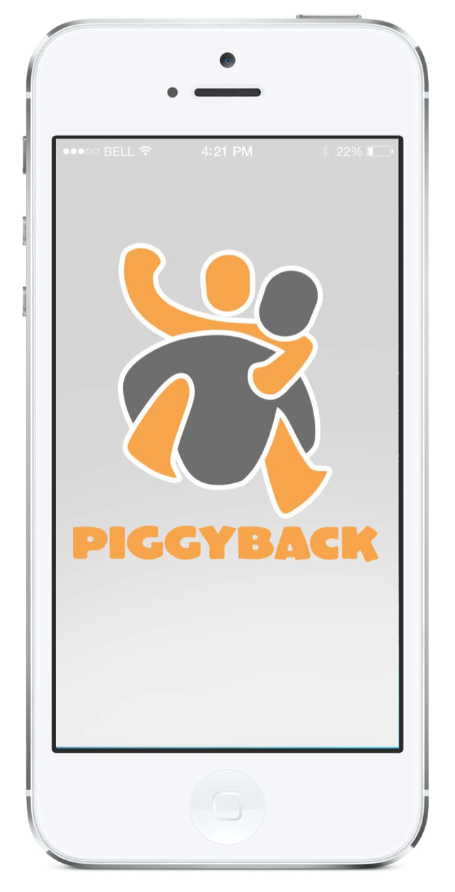 Smart Phone mock up - use to show visitors that your organization is included on Piggyback App's interactive platform