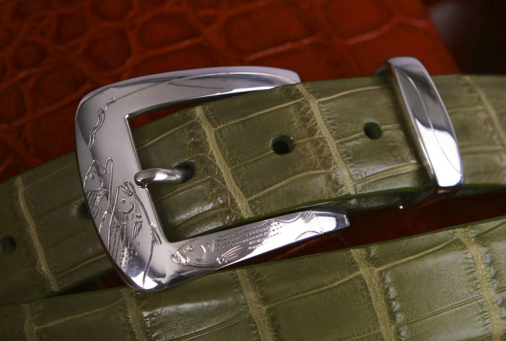 Hand Engraved Pinnell Buckle and Keeper