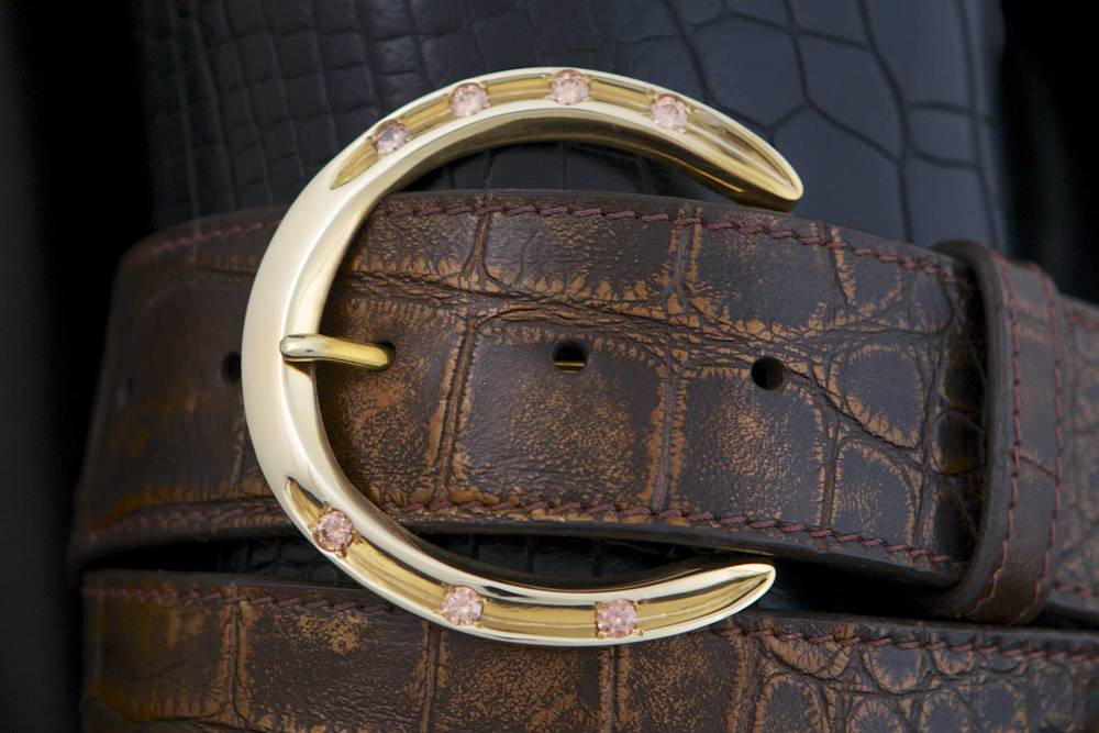 Pinnell Horseshoe Brass Buckle