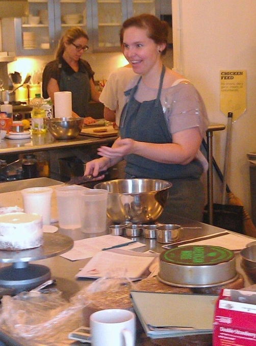 A busy test kitchen
