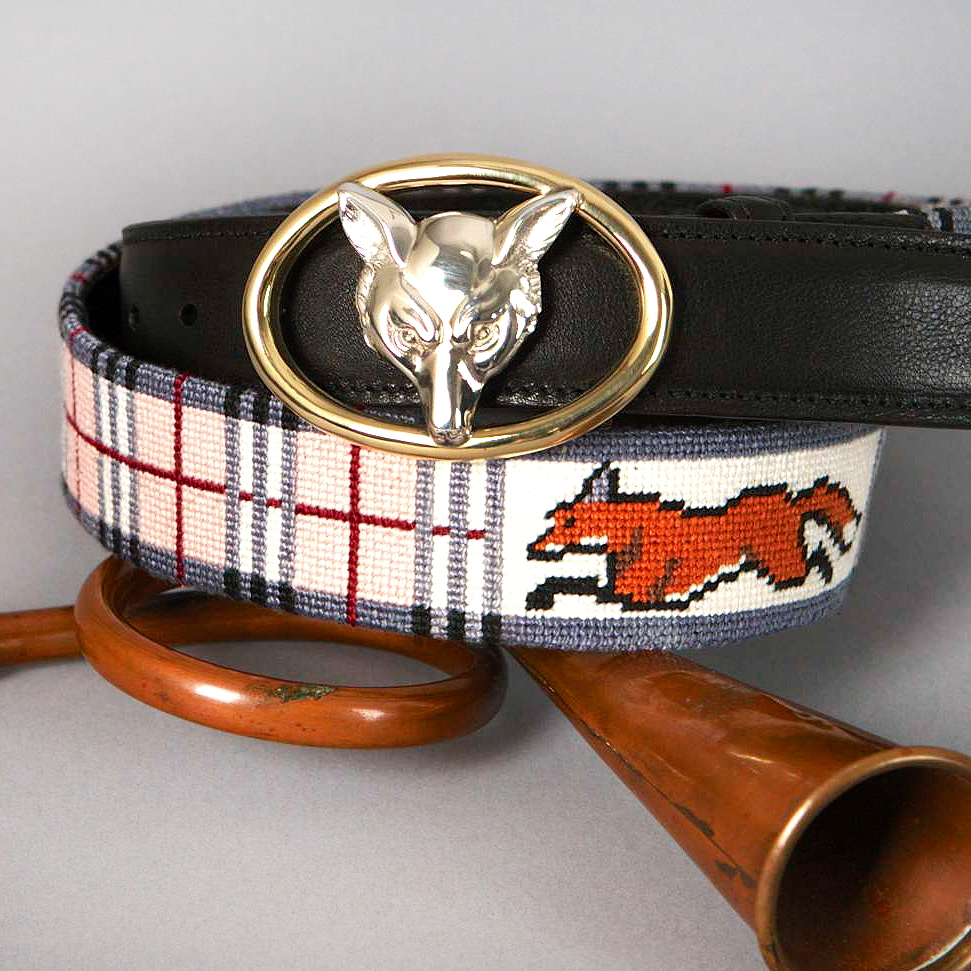 Custom Needlepoint Belts & Accessories -