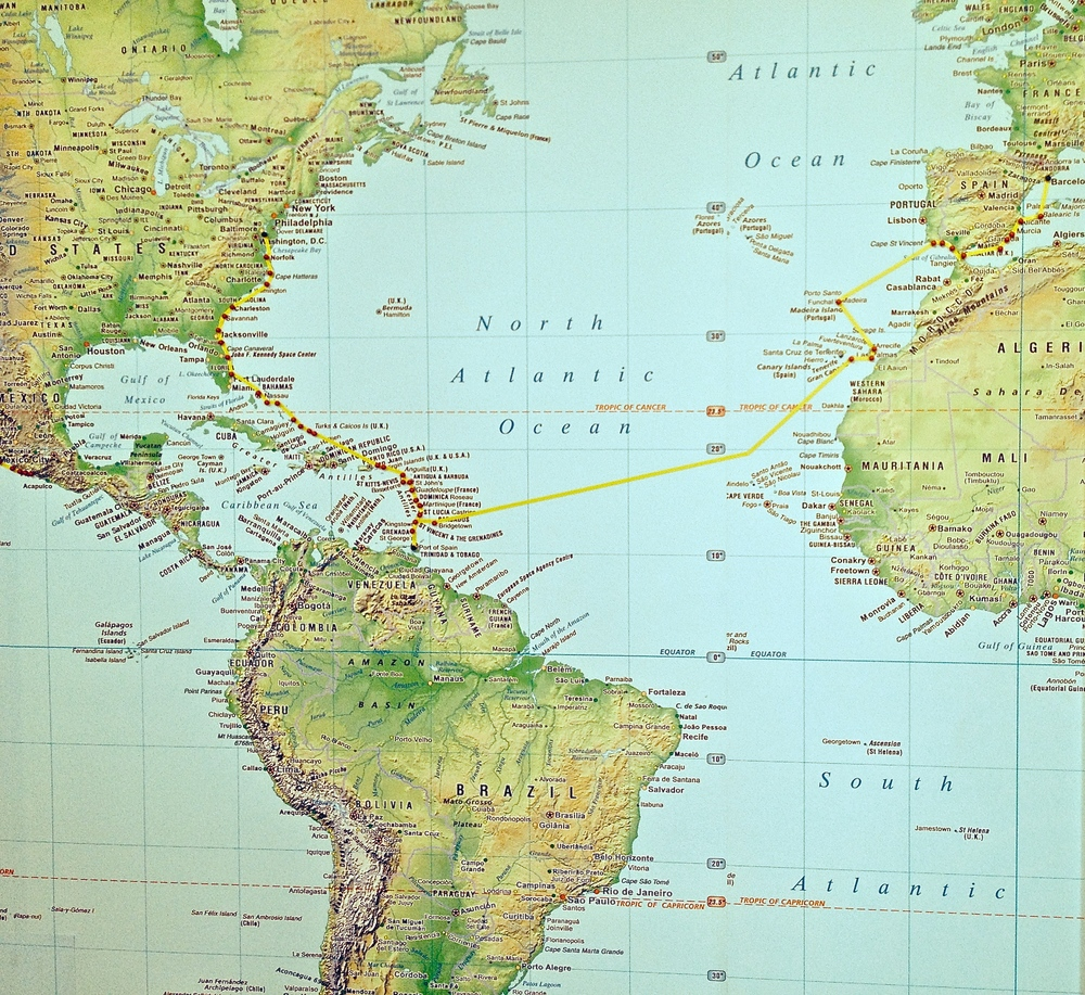Leave Med for Portugal & Atlantic Crossing to Madera, Canary Islands, Trinidad, Tobago, Caribbean islands, U.S. East Coast
