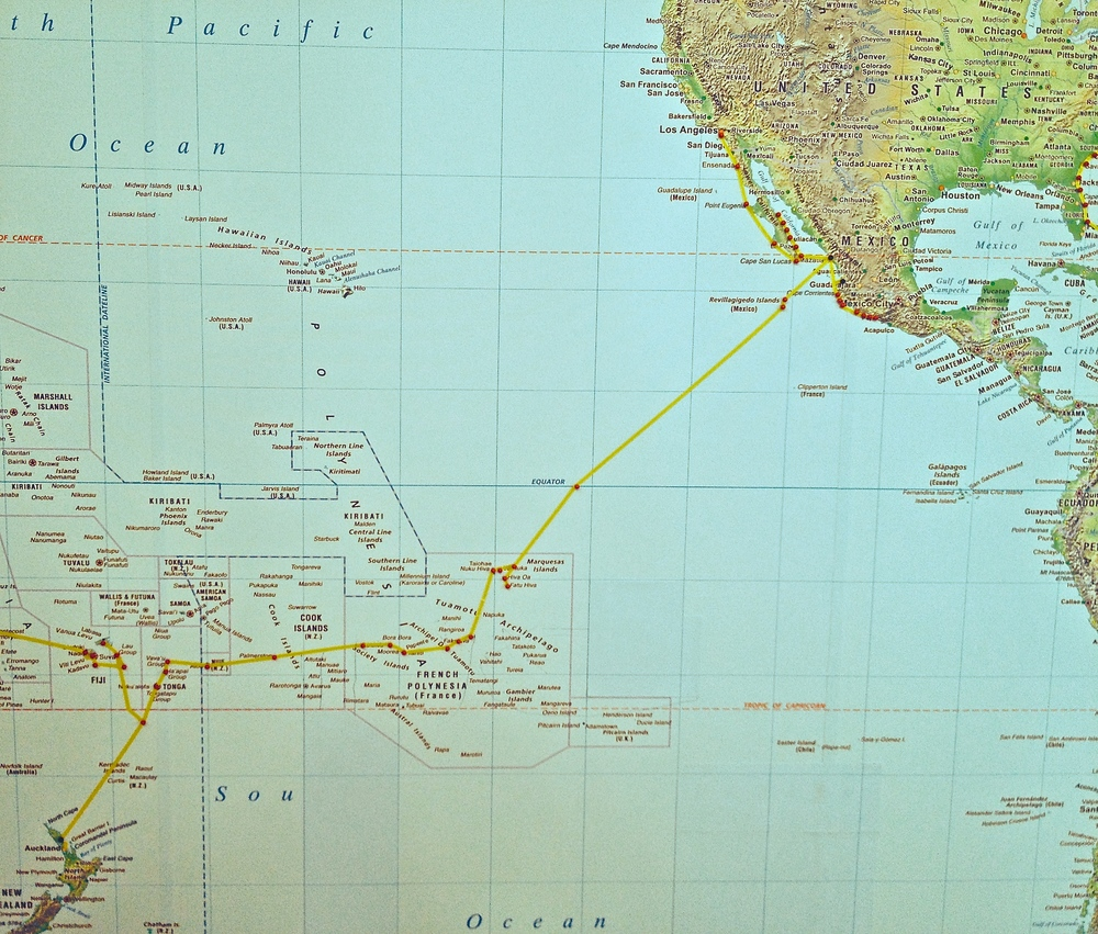 California to South Pacific Islands