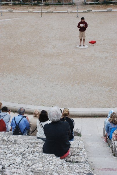 At the Theatre of Epidaurus - 2007
