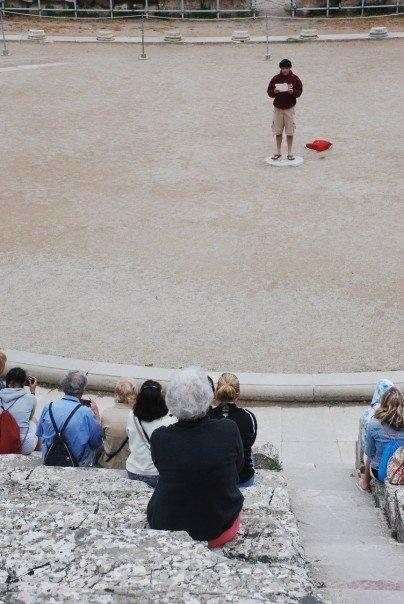 At the Theatre of Epidaurus - 2007