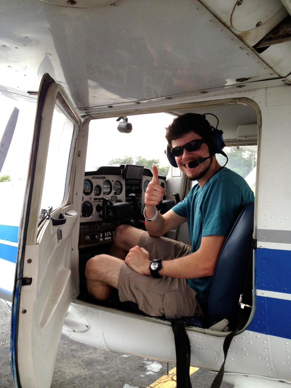 Adam's first solo flight