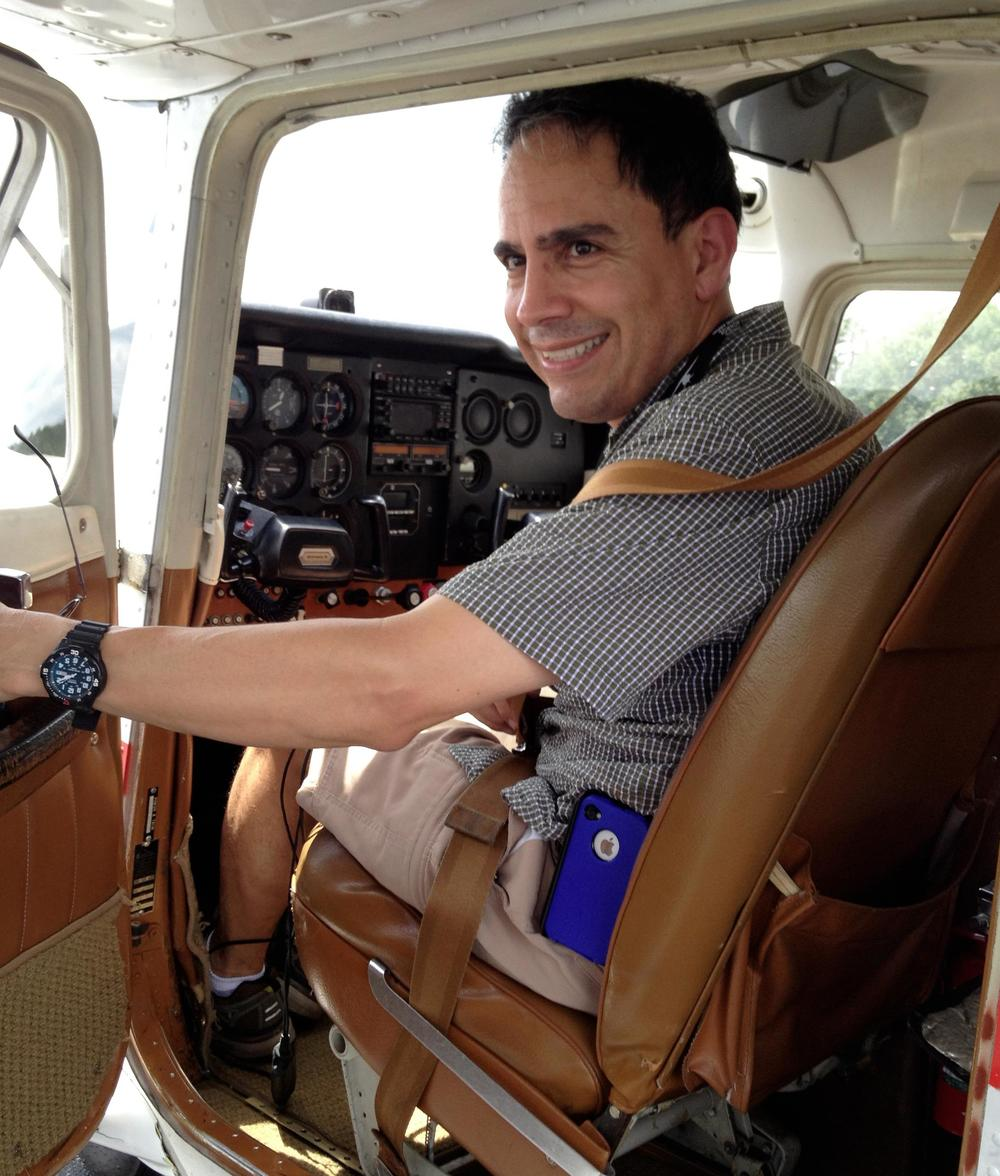 Jeff after his check ride, on his 50th birthday -- July, 2013