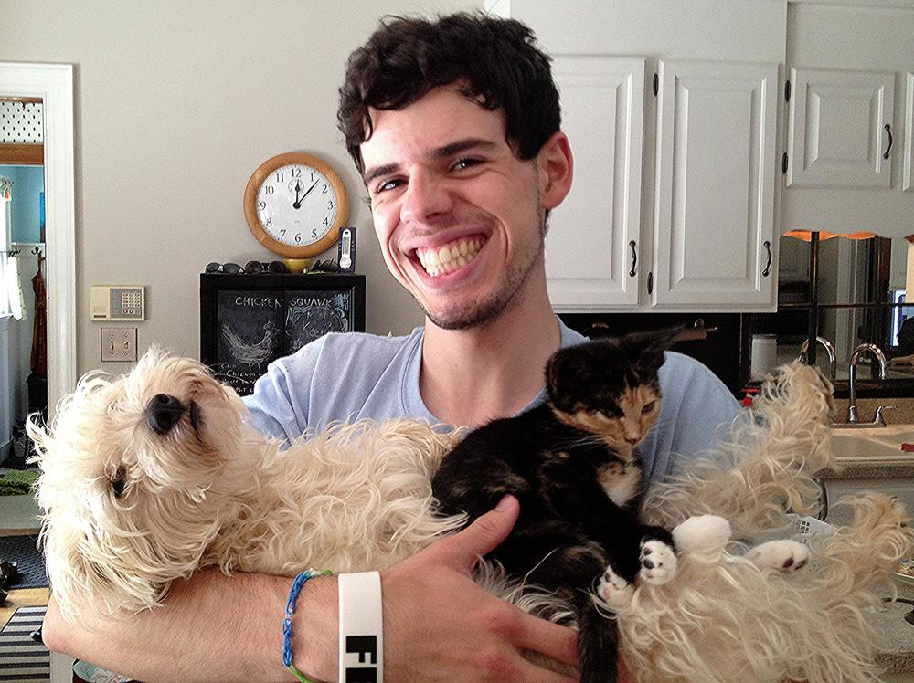 """Adam with the whole """"kitten"""" caboodle!"""