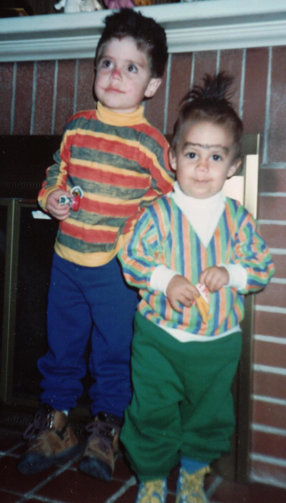 Justin & Nathan as Bert & Ernie, 1992(?)