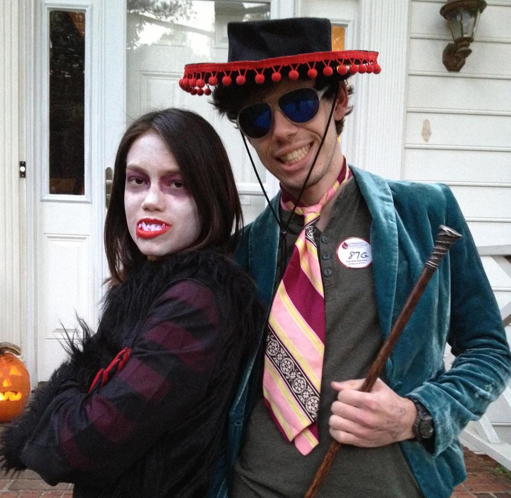 Oooh, scary!! Sabrina & Adam, 2012
