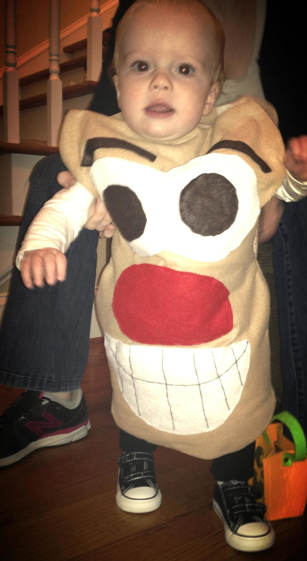 Grandson Will's very first Halloween, 2012