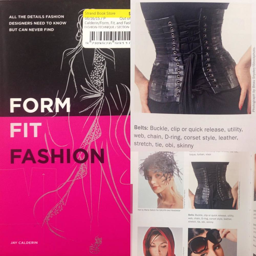 Several years ago I was flipping through a book at a store and came across a corset that looked quite familiar. When I looked close it was me in one of my own designs; my #bicycleinnertube #corset from my senior collection. Even though I was not credited it was quite a shock to see. Since then I lost the book and couldn't remember what book it was but recently found it at #thestrandbookstore. #formfitfashion #innertube #innertubefashion #sustainablefashion #corsetdesigner