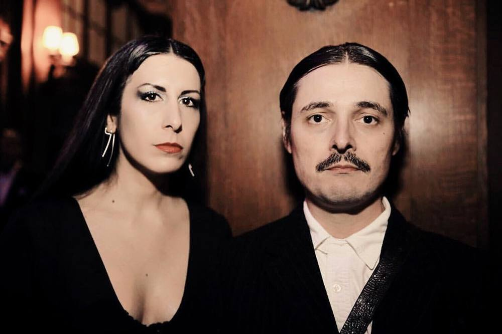 A photo from @dancesofvice on #halloween. @joshuajanke as #gomezaddams and myself as #morticiaaddams. #morticiaandgomez #morticiaandgomezaddams #addamsfamily #halloweenstyle #halloweencostume #halloweenfashion #nychalloween