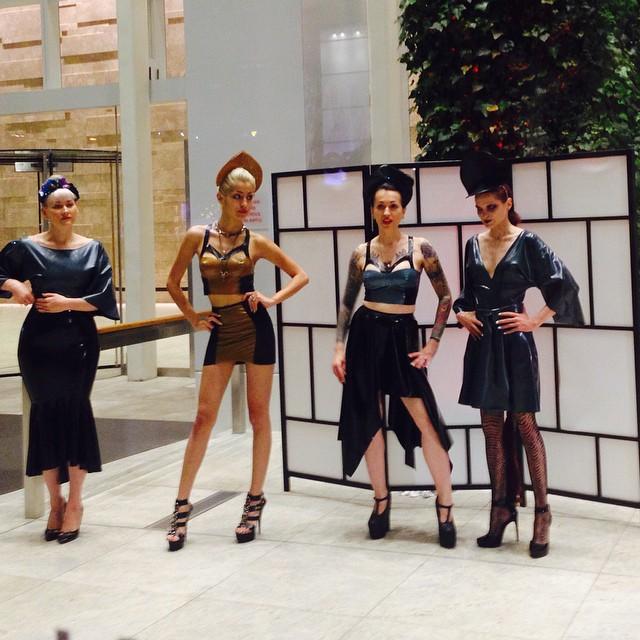 lyndaedwards :     #nycart for #fashion week w/#reneemasoomian