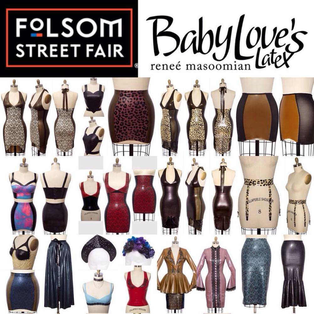 We over here at #babyloveslatex are excited to let everyone know that we will be vending at #folsomstreetfair this year the 27th of September in #sanfrancisco. Let us know if there is anything that you would like for us to bring for or vending booth. #soliloquylatex #folsomstreetfair2015 #latex #latexfashion #fetishfashion #fashionlatex #customlatex #couturelatex #bespokelatex