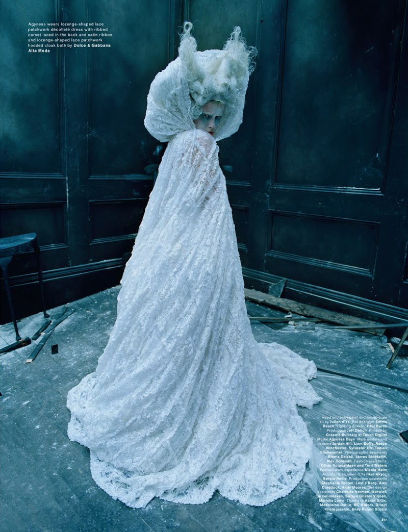 a-world-sublime: Spooky: Agyness Deyn By Tim Walker For Love #13 Spring / Summer 2015