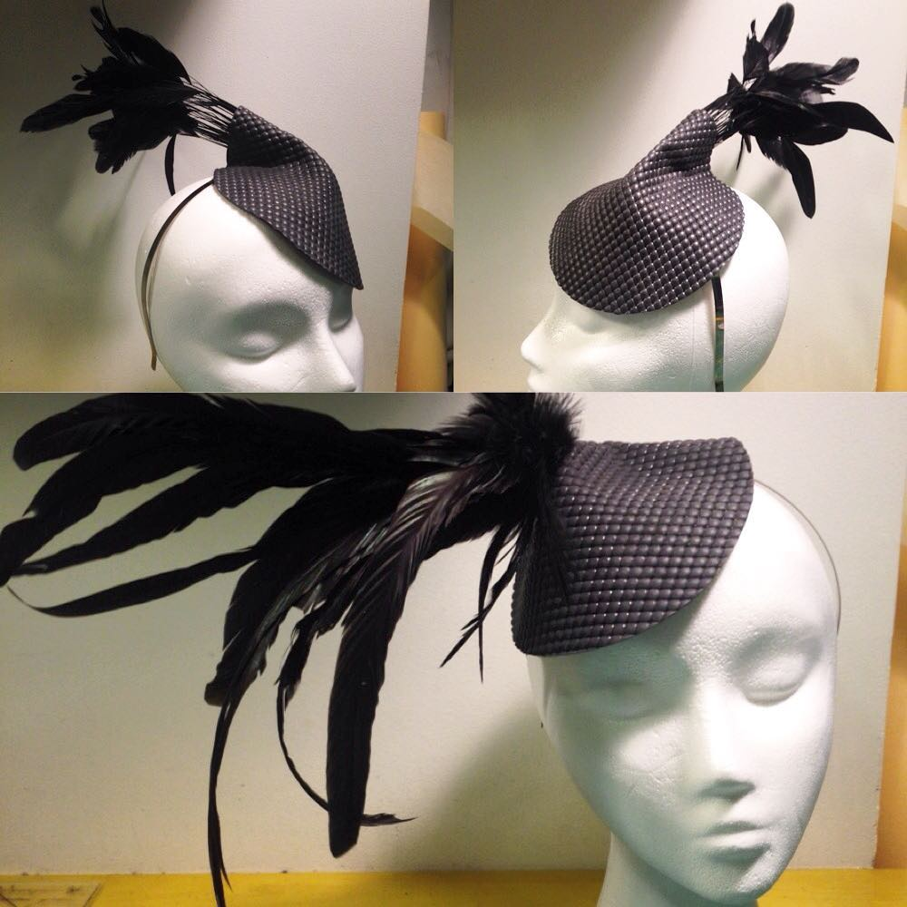 Two new cute #texturedlatex #fascinators getting ready to be shipped off to a photoshoot. #latexhat #latexheadpiece #latexfascinator #latexfashion #fashionlatex #fetishcouture #latexcouture #customlatex #babyloveslatex #bespokelatex #allblack #altfashion #alternativefashion #darkstyle #darkfashion #darkcouture #dark #style #fashion #millinery #couturemillinery #nycdesigner #reneemasoomian