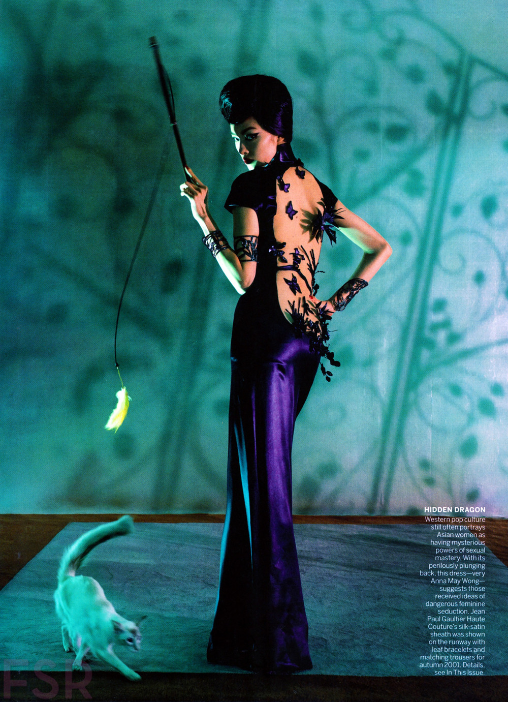 photographicpictures: Fei Fei Sun by Steven Meisel - Jean Paul Gaultier  Haute Couture fall 2001