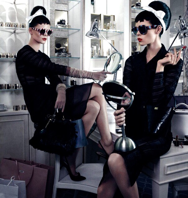 bleachyourself :     Meghan Collison & Irina Kravchenko by Mikael Jansson