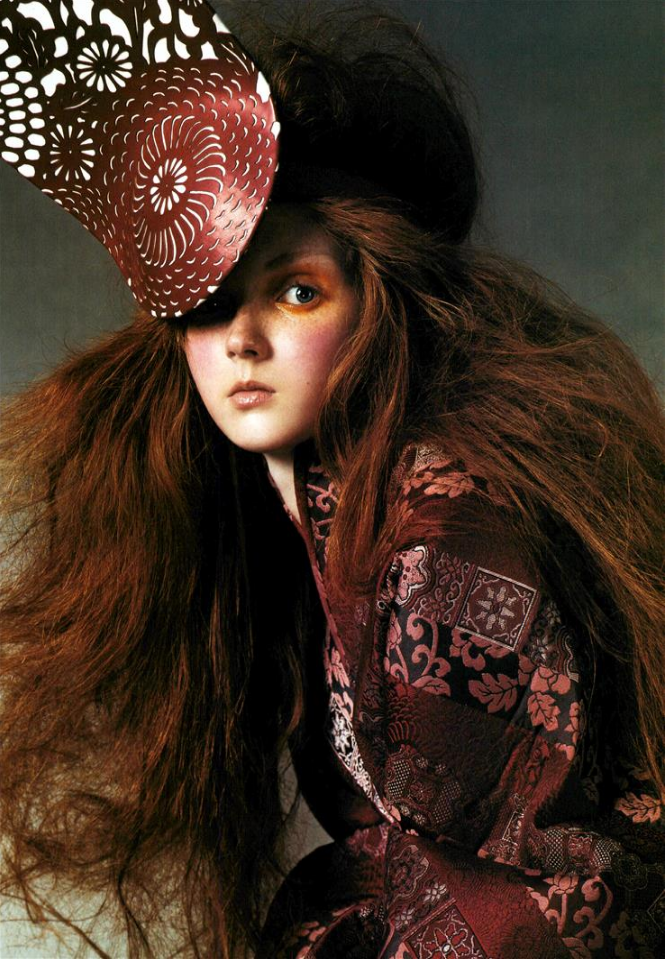 photographicpictures :     Lily Cole by Steven Meisel - Alexander McQueen Fall 2003
