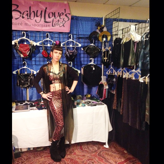 Second day of vending at #DomConLA. Don't forget to stop by the #BabyLovesLatex booth. #latex #latexfashion #fashionlatex #leopardlatex #PrintedLatex #latexdesigner