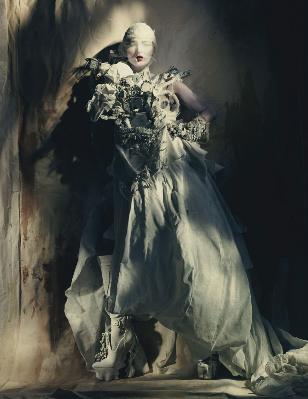 photographicpictures :     Kate Moss - Paolo Roversi - Maison Margiela Artisanal by John Galliano s/s 2015
