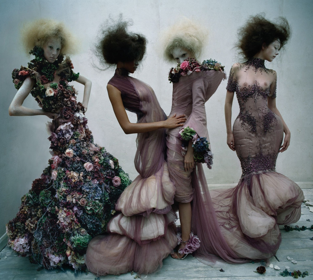 frackoviak :      Dark Angel | Harleth, Aya, Nastya and Yumi by Tim Walker British Vogue March 2015