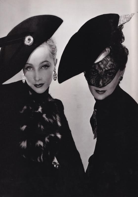 maudelynn: Elsa Schiaparelli Hats, c.1938 , by Erwin Blumenfeld. viaphotographyandarthistoryrocks.com