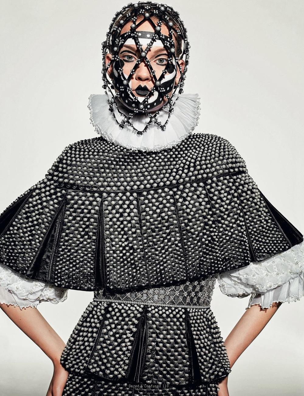 lelaid: Kirsi PyrhoneninVirgin McQueenfor Dazed & Confused, November 2013 Shot by Richard Burbridge Styled by Robbie Spencer