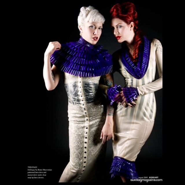 Dina de Sade and @sharontk in #babyloveslatex for @auxiliarymagazine. #latex #latexdress #latexmodel #latexfetish #latexcouture #latexfashion #latexphotography #latexdesigner #fashionlatex #fashion #style #nycdesigner #fetishfashion