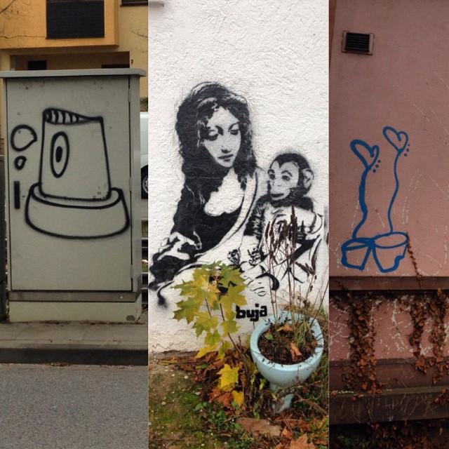 Some cute little #streetart in #Heidelberg #germany today.