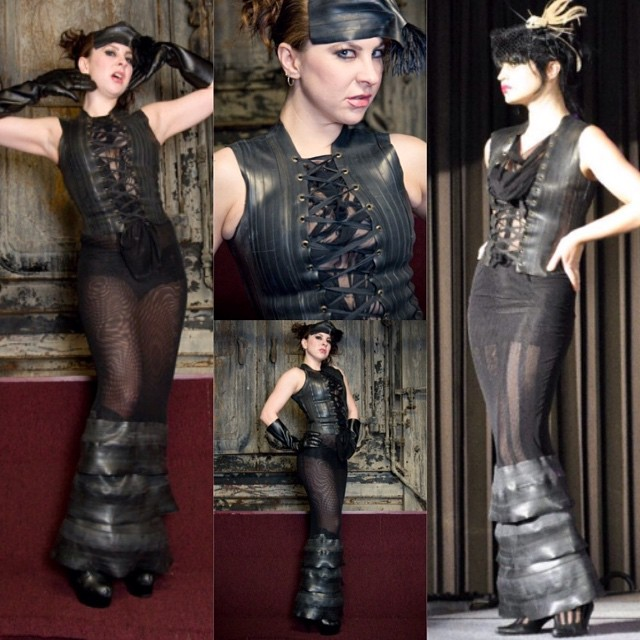 We recently added a clearance section to our website and just wanted to let everyone know that we have added some of our show samples from our 2009 #ReneeMasoomian collection, made out of #innertubes. #innertubefashion #sustainablefashion #bicycleinnertubes #bicyclefashion #allblack #darkstyle #darkfashion #dark #fashion #style #designer