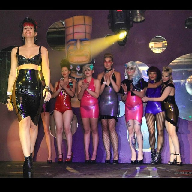 It's the week for back to back fashion shows over here at #reneemasoomian. We will be showing our #babyloveslatex line at @vicissitudemagazine's October issue and fashion showcase. Here is a photo from our 2011 summer show in philly. #latex #latexfashion #latexfetish