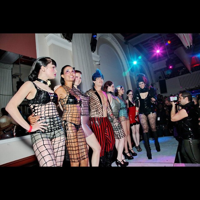 Here is a photo from two years ago of our #babyloveslatex fashion show at the DC Fetish Ball. We are excited to announce that we will be showing there again this year at #Ultrabar. #latex #latexfashion #latexfetish #latexnet #fashionshow #dcfetishball