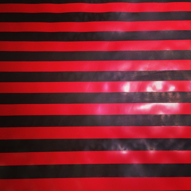 Some hand panted #latex #redandblack #stripes that we have been working on in the studio. #babyloveslatex #latexfashion #redandblackstripes