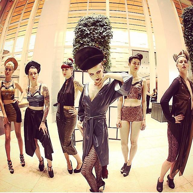 @warren_archer took this great picture yesterday at our #babyloveslatex by #reneemasoomian #nyfw #newyorkfashionweek #bARTschinspiration #artaporternyc  #fashion presentation. With @johanna_constantine @tattooedvet @sharontk @daphpunk @satanikpanik @rebeccasuziehart. #latex #latexfashion #nycfashion
