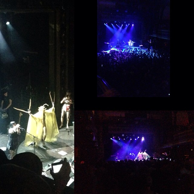 @johanna_constantine preforming with #CocoRosie at last nights #futurefeminism benefit concert at #websterhall.