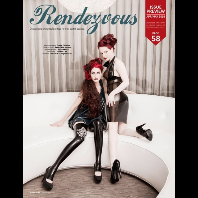 reneemasoomian :     The new issue of @auxiliarymag is out and here is a preview shot of @sharontk and @angelaryan in our #babyloveslatex line. #latex #latexfashion #fashionphotography #latexdress #fashionlatex #fashion #latexmodel #fetishfashion #fashiondesigner