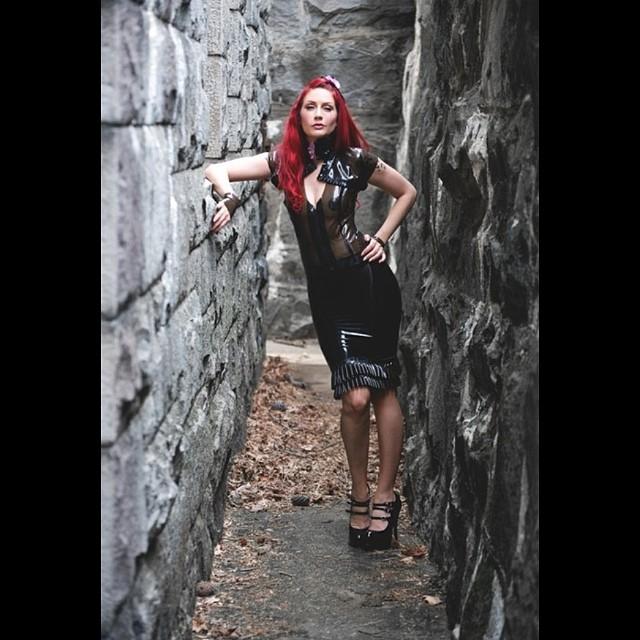 @sharontk in our #babyloveslatex double #ruffle skirt, zip top, and ruffle shrug. #latex #latexmodel #latexdesigner #latexfashion #fashionphotography #fashioneditorial #fashiondesigner #fashion #darkstyle #darkfashion #latexfetish #reneemasoomian.com