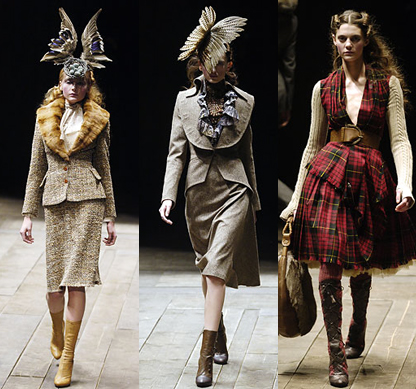 lauramoodley: Taxidermy has been used throughout the history of fashion; the most traditional example beeing the use of dead birds on ladies hats. Here Alexander McQueen homes in on this fashion statement from fashions past.