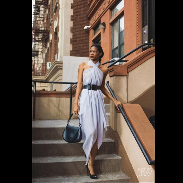 #reneemasoomian #silkchiffon dress with #babyloveslatex #latex belt and purse. Available on reneemasoomian.com. #fashionphotography #fashiondesigner #fashion #fashionlatex #nycfashiondesigner #darkfashion #darkstyle #fashioneditorial #nycfashion