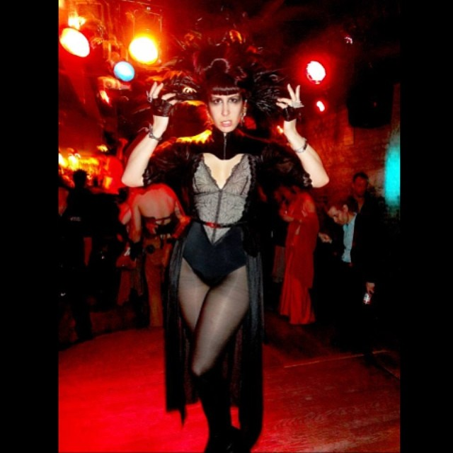 A photo from last weeks @doriangrayWednesday. This weeks theme: alien prom invasion! Now I just have to figure out what to wear, maybe latex because of all the rain. #darkstyle #darkfashion #nycnightlife #feathers #featherheadpiece